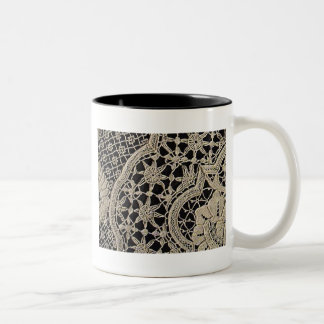 Pretty Antique Zele Lace Two-Tone Mug