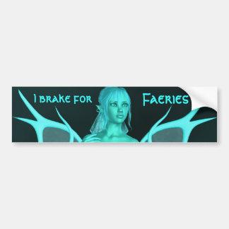 Pretty aqua fairy bumper sticker