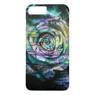 Pretty Aqua Painted Rose Floral Grunge iPhone 7 Plus Case