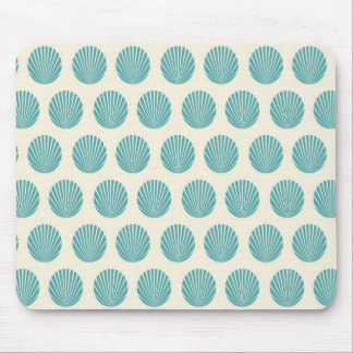 Pretty Aqua Teal Blue Shell Beach Pattern Gifts Mouse Pad