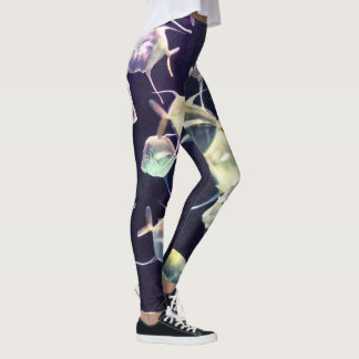 Pretty Aquatic Up Close School Of Fish Leggings