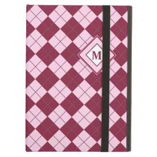 Pretty Argyle Plaid Pattern in Shades of Pink Case For iPad Air