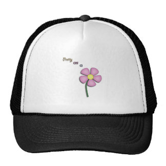 Pretty As A Flower Trucker Hats