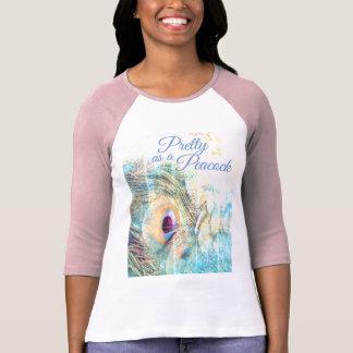 Pretty as a peacock compact t-shirt