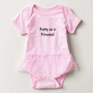 Pretty as a Princess Baby Tutu Body Suit Baby Bodysuit
