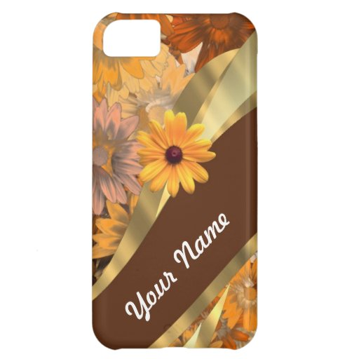 Pretty autumn floral pattern case for iPhone 5C