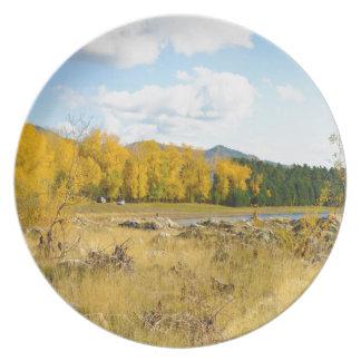 Pretty Autumn Landscape Plate