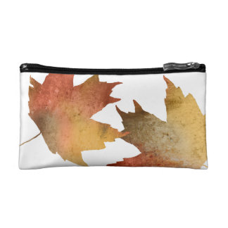 Pretty Autumn Leaves Cosmetic Bag