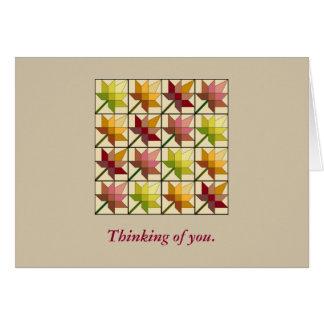 Pretty Autumn Splendor Quilt Pattern Note Card