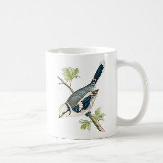 Pretty Azure Blue Bird Mugs