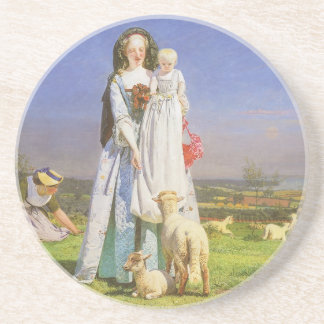 Pretty Baa Lambs by Ford Madox Brown Coasters