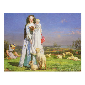 Pretty Baa Lambs by Ford Madox Brown Postcard