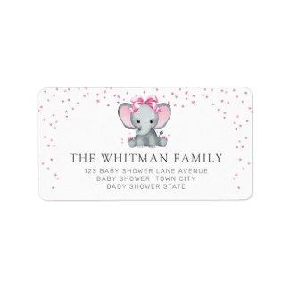 Pretty Baby Elephant Return Address Label