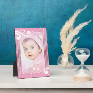 Pretty Baby Girl Photo with Name Plaque