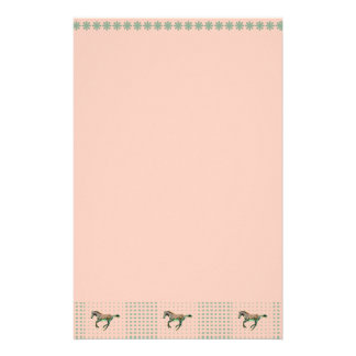 Pretty Baby on Green Checks Stationery