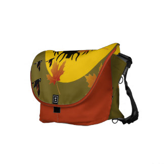 Pretty bag of autumn in Canada Messenger Bag