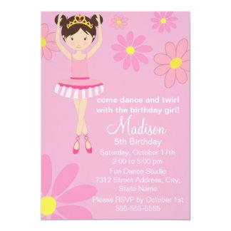 Pretty Ballerina Dance Party Birthday Invitation