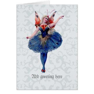 Pretty Ballerina Fairy - Delicate Vintage Fine Art Card