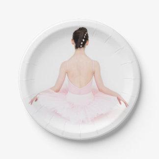 Pretty ballerina in pink tutu party plate