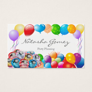 Party planning business card vatozozdevelopment party planning business card colourmoves