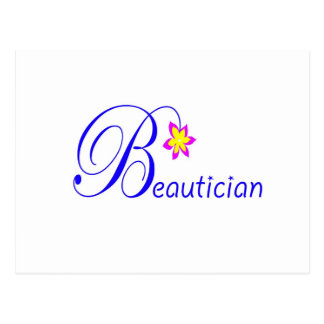 Pretty Beautician Postcard