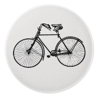 Pretty bike bicycle  knob drawer pull black white