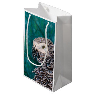 Pretty Bird Bag, African Grey Parrot Small Gift Bag