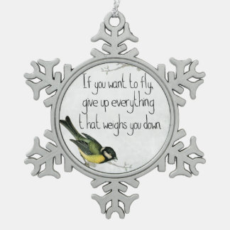 Pretty Bird inspirational motivational ornament