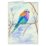 Pretty Bird, Lilac Breasted Roller, Watercolor Art