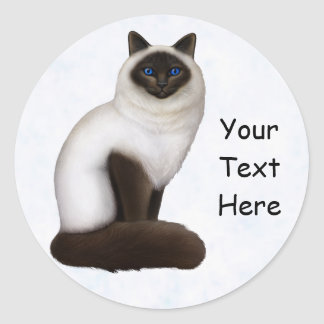 Pretty Birman Kitty Cat Customizable Sticker