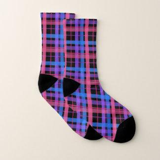 Pretty Black and Pastel Plaid! Socks