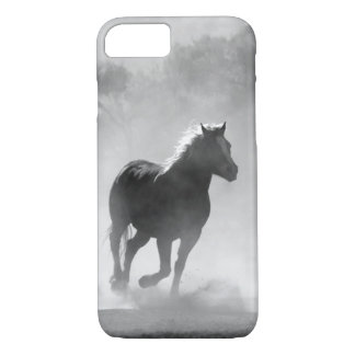 Pretty Black and White Galloping Horse Case
