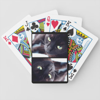 Pretty Black Cat Bicycle Playing Cards