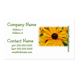 Pretty Black-Eyed Susan Business Card Templates