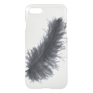 Pretty black feather tribal hipster goth clear iPhone 8/7 case