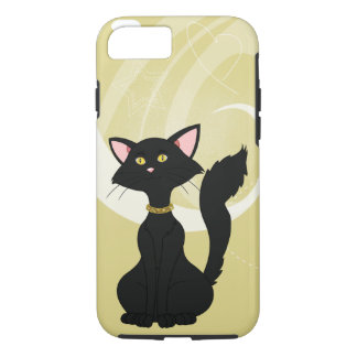 Pretty Black Male Cat W/Gold Eyes iPhone 7 Case