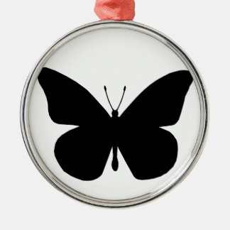 Pretty Black Monarch Butterfly Christmas Ornament