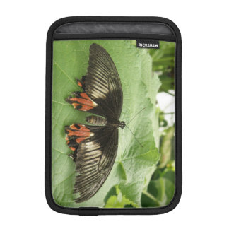 Pretty Black Red and Gold Butterfly IPad Mini iPad Mini Sleeve