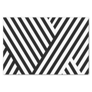 Pretty Black White Stripes 10lb Tissue Paper