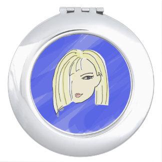 Pretty Blonde Compact Mirror