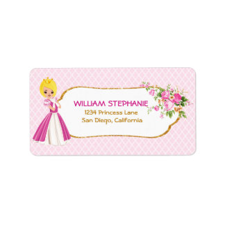 Pretty Blonde Princess Address Labels