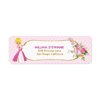 Pretty Blonde Princess Return Address Labels