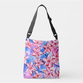 Pretty Blossom Watercolour Cross Body Bag