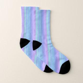 Pretty Blue and Purple Pastel Pattern Socks 1