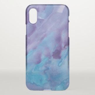 Pretty Blue and Purple Watercolor iPhone X Case