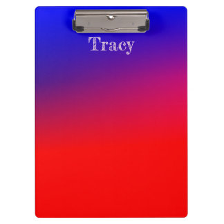 Pretty Blue and red gradient Clipboard