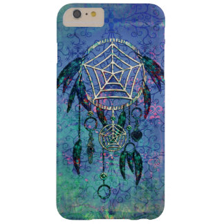 Pretty Blue and Teal Pastel Feather Dreamcatcher Barely There iPhone 6 Plus Case