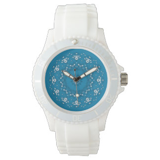 Pretty Blue and White Geometric Watch