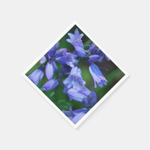 Pretty Blue Bell Flowers Paper Napkins