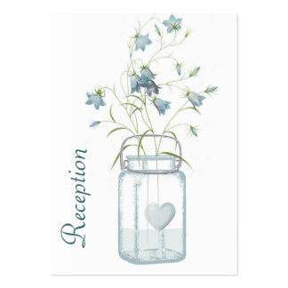 Pretty Blue Bells in a Mason Jar Wedding Enclosure Pack Of Chubby Business Cards